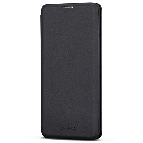 Galaxy S10 Plus Flip Case Black - CASEZA Dublin PU Leather Case - Premium Vegan Leather Wallet Book Folio Cover for The Original Samsung Galaxy S 10 + (6,4'') - Ultra Thin with Magnetic Closure (Flip Fold Wallet)