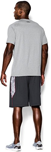 Under Armour Men's Tech Short Sleeve T-Shirt, True Gray Heather /Black, XXXXX-Large by Under Armour (Image #6)