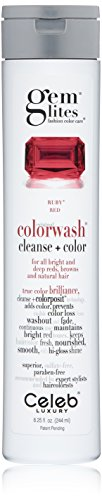 Gem Lites Color Depositing Shampoo: Ruby Red Cleansing Hydrating Colorwash, (Moisture Light Shampoo)