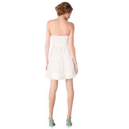 Kurz GEORGE BRIDE Elegante Abendkleider Elfenbein Satin P7wxtq76