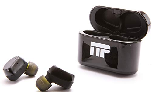 Wireless Bluetooth Mini Earbuds with Charging Case by Naes Pro Tech - Noise Cancelling and True Stereo with Incredible Bass - Compatible with iPhone and Samsung - Perfect for Sports, Gym and Outdoors