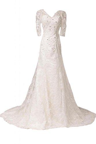 Donna Bianco da Abito Sunvary sposa qf4SSX