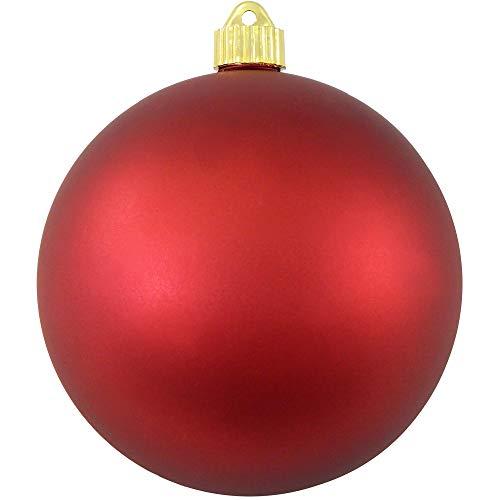 Christmas by Krebs KBX13991 Shatterproof Christmas Ball Ornament, 6-Inch, Red Alert
