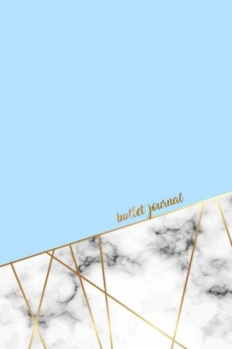 Bullet Journal: Marble Luxury Baby Blue Marble Gold   Dot Grid Journal (Pretty Bullet Journals) (Volume 1)