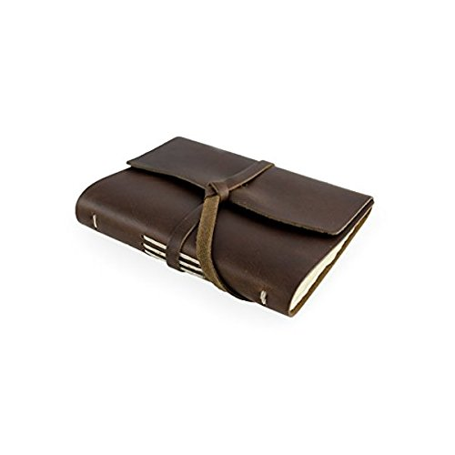 [Rustico's Parley's Leather Journals to Write in, Hand Crafted Leather Softcover Writing Notebook With Wrap, Journal Notebook With 96 Rough Cut Pages, Antique and Vintage Look (Dark] (Things That Start With The Letter N)