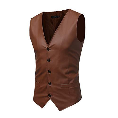 Cuir coloré Moto Pu Mode Taille 3 Printemps En Poche Gilet Costume Avec Xl Noir couleur Manches De Hommes Fuweiencore Veste Sans 2 Taille Pour Hommes vfFBBq