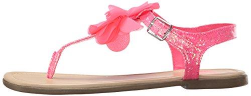 The Children's Place Girls' Big Flower Zahara Ballet Flat, Pink, 12 M US Little Kid