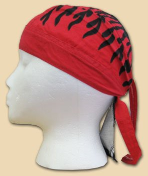 Flames (Red) - Classic Ezdanna Headwraps