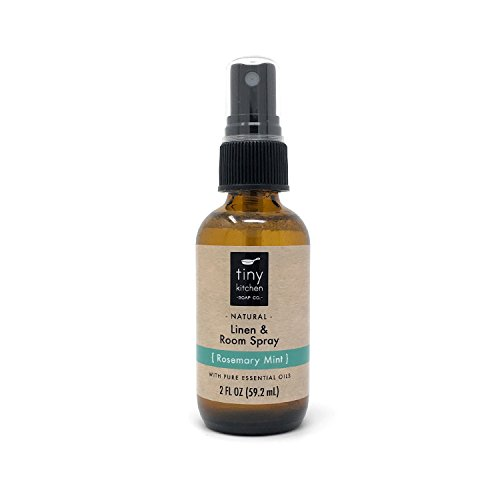 Rosemary Mint Essential Oil Linen and Room Spray - Natural Air Freshener (2 oz) by Tiny Kitchen Soap Co.