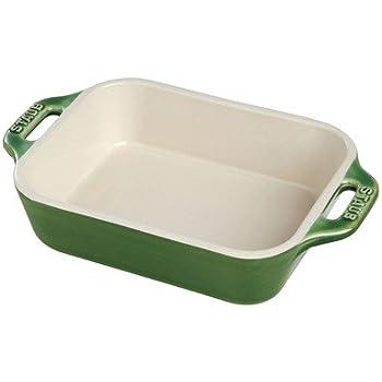 Staub Rectangular Dish, Basil, 10.5 x 7.5 - Basil