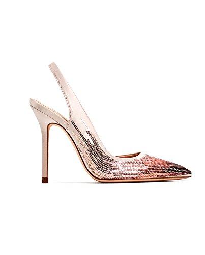 Zara Femme Chaussures à talons, brides arrière et paillettes 5801/201