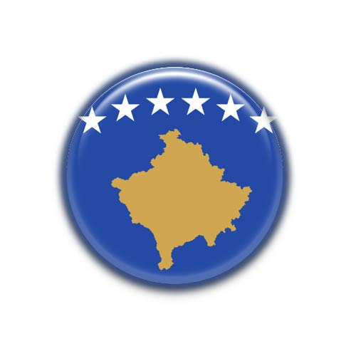 Kosovo : Bandera Nacional, Pinback Button Badge 1.50 Inch (38mm)