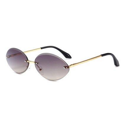 Sin Mujer Gafas Moda Degradado Oval Marca de diseñador Hembra Gafas de del Gafas única Lente Sol B A Transparente de Reborde Pequeño Burenqi Sol FYxX6wnPdF
