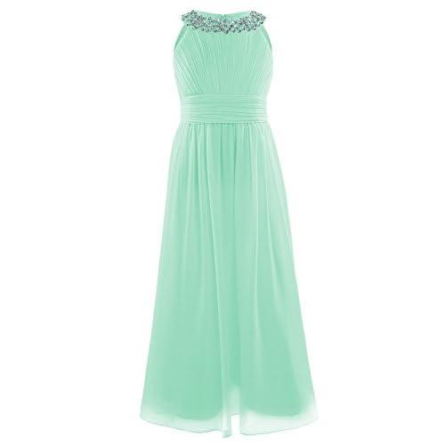 871b66359 De bajo costo Freebily Vestido de Fiesta Boda Bautizo Graduación para Niña  Chica Vestido Plisado Dama