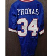 Signed Thomas. Thurman (Buffalo Bills) Thurman Thomas Buffalo Bills Authentic Jersey Size 40 ( Light Cracking on Numbers) autographed