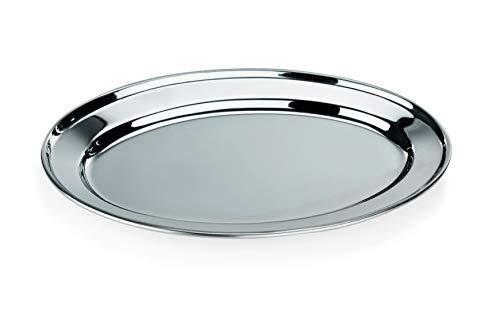 Servierplatte Tablett Buffetplatte, 61 x 43 cm, mit bordiertem Rand, Rand, Rand, Chromnickelstahl, 9 Größen erhältlich, Gastro-Qualität B07KQFTV6T Servierplatten d9aa78