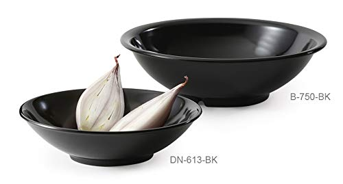 G.E.T. Enterprises B-750-BK-EC 24 oz. Bowl, Black Elegance, Black (Pack of 4)