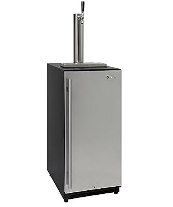 Kegco VSK 15SSRN 15u0026quot; Wide Built In Under Counter Kegerator With  Stainless Steel Door