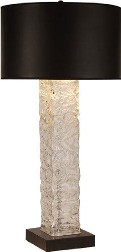 Trend Lighting TT7946 Apex Table Lamp, Satin Black Finish