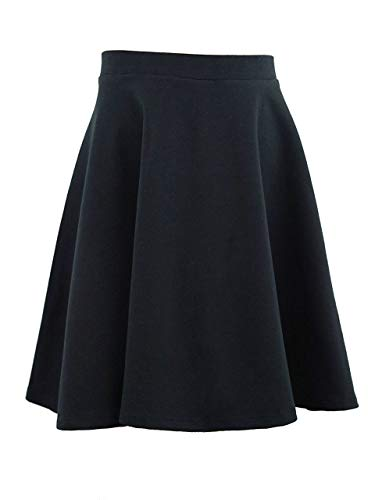 Vivian's Fashions Skirts - Girls, Cotton, Long, Circle (Black, Small)