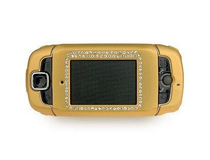 Rubberized Plastic Case with Diamonds Gold For T-Mobile Sidekick III 3 ()