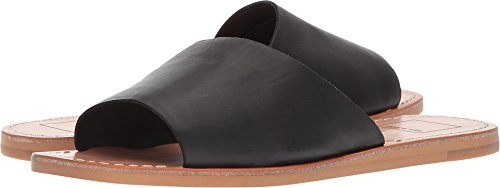 Dolce Vita Women's CATO Slide Sandal Black Leather 6.5 M US (Slides Leather Casual)