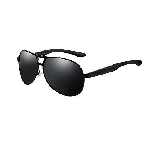 VEITHDIA VA193 Hot Fashion Men's Polarized Aviator Sunglasses 100% UV protection (Black Frame/Black Lens, as the - Cheap Name Brand Glasses