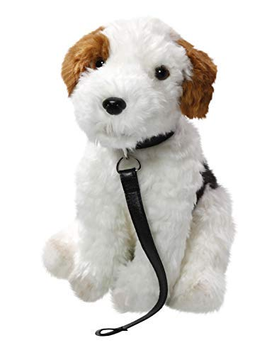 Carl Dick Fox Terrier Sitting with Lead 11 inches, 30cm, Plush Toy, Soft Toy, Stuffed Animal 3445