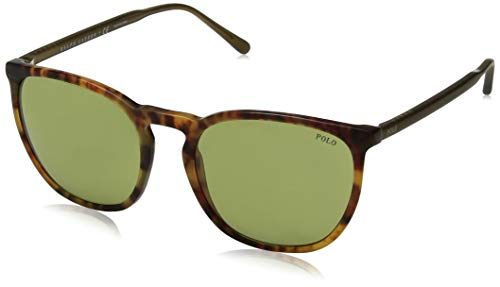 Polo Ralph Lauren Men's 0ph4141 Square Sunglasses, vintage havana jerry, 54.0 ()