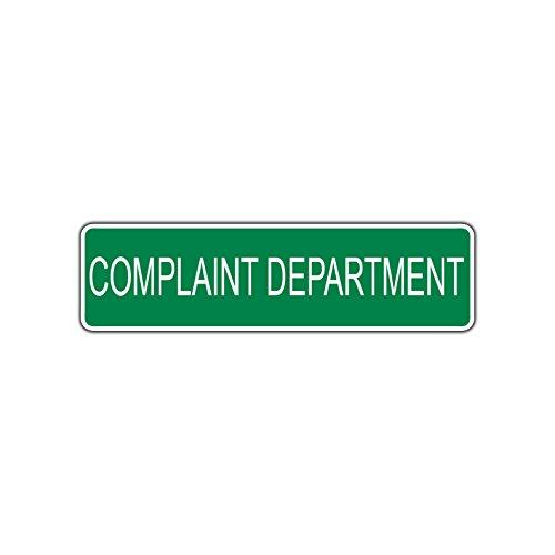 Complaint Department Wall (Complaint Department Street Sign Wall Bar Garage Business Home Kitchen Decor)