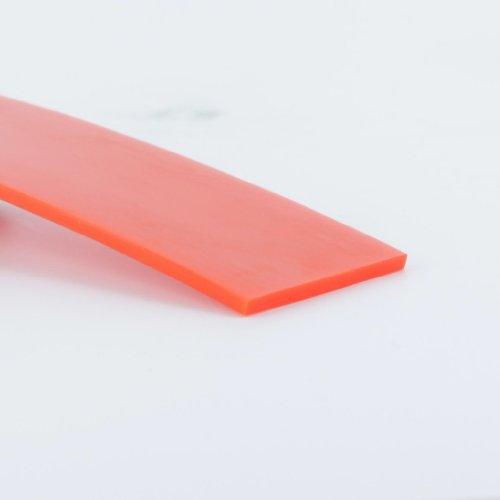 High-Performance Urethane Flat Belting, 1 inch Width, 10 ft Length, Orange