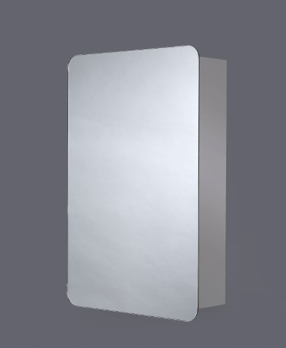 Pebble Grey Sorrel Spiegelschrank, Edelstahl, mit Ablage, BxH 40 x