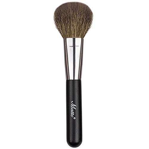 Matto Goat Hair Powder Mineral Blush Brush Travel Size Natural Wool Brush 1 Piece