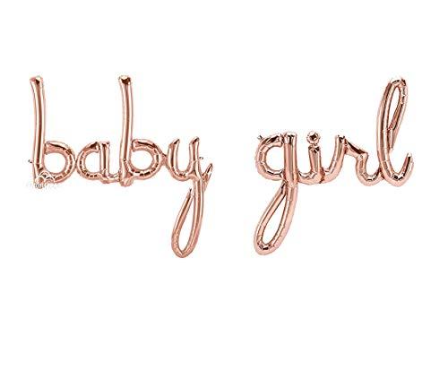 Besttt-Seller Rose Gold Baby Girl Balloon for Baby Shower Decorations, Baby Balloons, It's A Girl Gender Reveal -