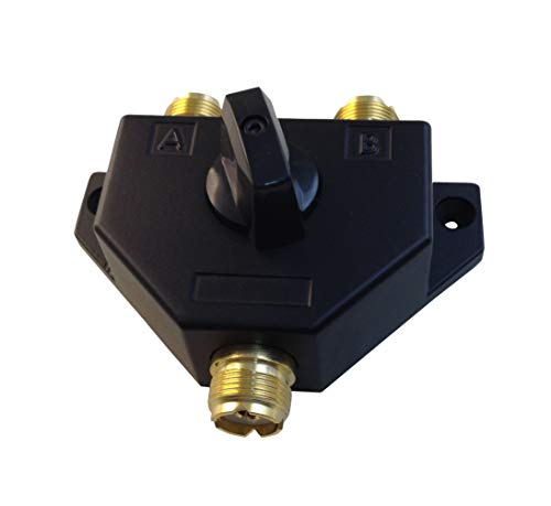 Anteenna TW-102 2 Position Coaxial Switch for 144/440MHz HAM or CB Radio UHF Female Connector Plated Golden