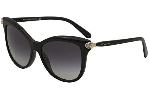 Bvlgari Women's BV8188B BV/8188/B 501/8G Black Fashion Cat Eye Sunglasses ()