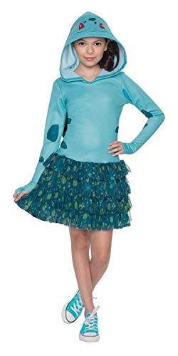 (Rubie's Costume Pokemon Bulbasaur Child Hooded Costume Dress Costume,)