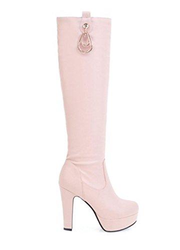 Ginocchio Rhinestones Alti Larga Di Colore Womens Lungo Tratto Cristallo Sella Fashionshoes Mnii Tallone Il Boots Blocco Misura THx8Bffwq