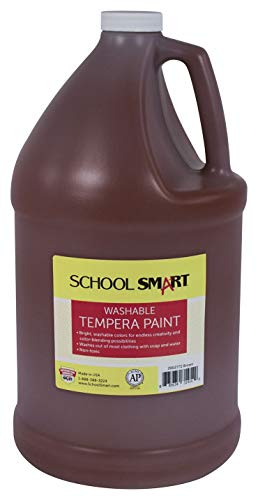 School Smart Washable Tempera Paint, Gallon, Brown