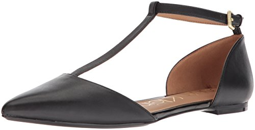 Ghita Ballet Flat, Black, 9.5 Medium US ()