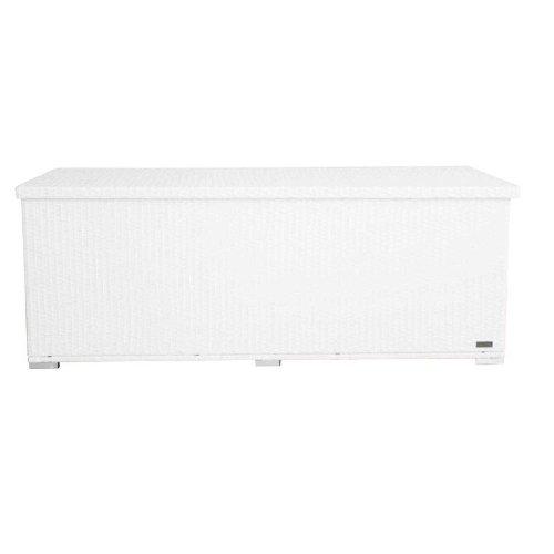 OUTFLEXX Kissenbox aus Polyrattan 204x94x75cm in weiß