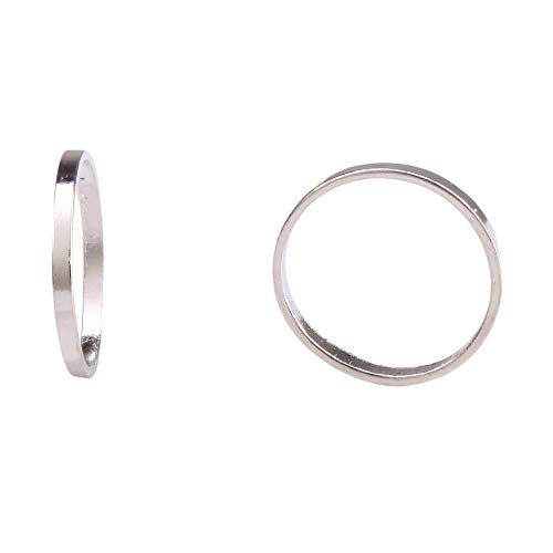 lver Ring Charm Connector Beads 12mm Sterling Silver plated for Jewelry Making CF139 ()