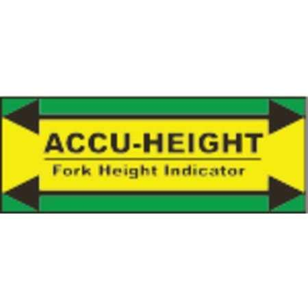 Height Indicator Label, 12 in. H, Vynil