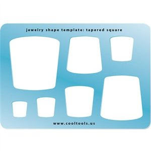 Cool Tools - Jewelry Shape Template - Tapered Square