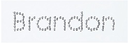 (Me & My Big Ideas Rhinestone/Brad Name Stickers, Brandon/Aluminum Brad)