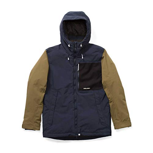 Holden Snowboard Outerwear - Holden Men's Outpost Jacket, x Large, Navy/Olive/Black