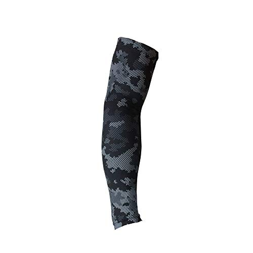 Price comparison product image LuluZanm Sales! Sport Skin Arm Sleeve Cooling UV Cover Sun Protective Stretch Basketball Arm Cover Gym Sports Cuffs Black