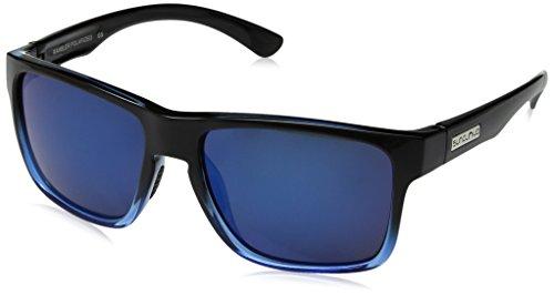 Suncloud Rambler Polarized Sunglasses, Black Blue, Blue Mirror
