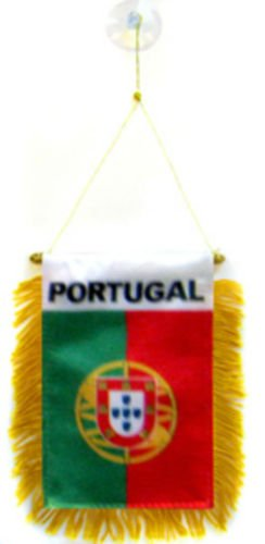 Bandera de Portugal Mini 4 x6 Pancarta Ventana Ventosa BEST Jardín Outdor