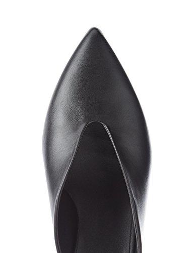 Iluminacionled Find Abiertos Piel Negro Zapatos Para Mujer Black De TFJc3lK1